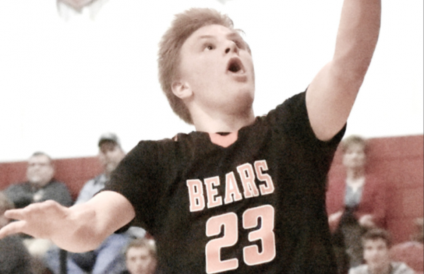 LCC's Evan Haisch goes up for an easy lay-in Thursday at the Msgr. Werner Activity Center in Hartington.