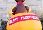 While many area residents are busy putting up Christmas decorations. Roger Kvols wanted to make sure people re- membered another important holiday — Thanksgiving.