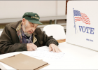Carrol Lipp showed up bright and early Tuesday morning to fill out his ballot for the 2018 General Election.