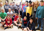 Students in Lynn Bloomquist's Civics class include, (back row, l-r) Hadley Vanness, Sienna West, Carson Carl, Sam Aitken, Lynn Bloomquist, Cashe Carlson, Samuel Habluetzel, Sophia Wilken, Addison Wynia, Hunter West, Holly Johnson, Claire Kumm, Colton Hagemann; (middle) Tucker Wright, Leah Poellot, Jyler Petersen; (bottom) Matt Rumsey, Gunnar Gillilan, Cade Wakeley, Caleb Woockman, Henry Kumm and Reagan Paben.
