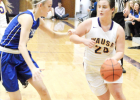 Wausa's Clara Schindler drives the ball up the court during recent home action. The Lady Vikes will be in action again Dec. 28 when they take on Creighton in the Creighton Holiday Tournament.