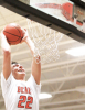 Noah Schutte goes up for a slam dunk for the LCC boys during Friday's 69-23 home win over Emerson-Hubbard.